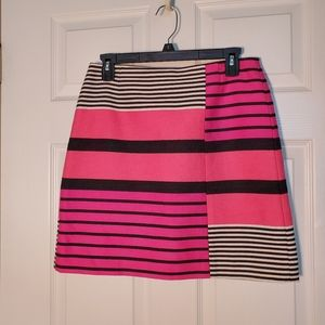 LOFT Tweed Striped  Mini Skirt
